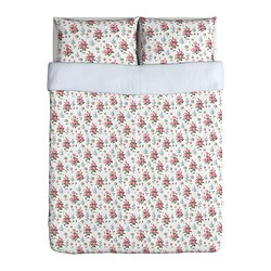 EMMIE SÖT quilt cover and 2 pillowcases, multicolour Quilt cover length: 230 cm Quilt cover width: 200 cm Pillowcase length: 50 cm