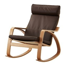 POÄNG rocking-chair, Robust dark brown, beech veneer Width: 68 cm Depth: 94 cm Height: 95 cm