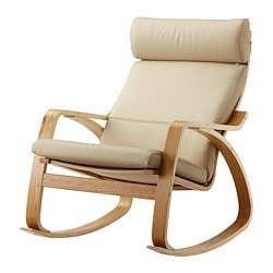 POÄNG rocking-chair, Robust Glose eggshell, oak veneer Depth: 94 cm Seat width: 56 cm Seat depth: 50 cm