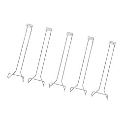 INREDA glass rack, chrome-plated Package quantity: 5 pack