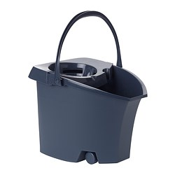 LÖDDER bucket with wringer, grey Volume: 10 l