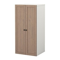 STUVA storage combination with doors, grey-brown Width: 60 cm Depth: 50 cm Height: 128 cm