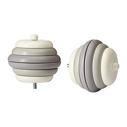 UTHÅLLIG finial, beige Length: 66 mm Package quantity: 2 pack