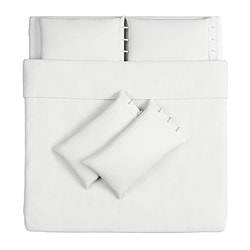 LINBLOMMA quilt cover and 4 pillowcases, white Quilt cover length: 220 cm Quilt cover width: 240 cm Pillowcase length: 50 cm
