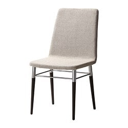 PREBEN chair, Tenö light grey, brown-black Tested for: 110 kg Width: 45 cm Depth: 51 cm
