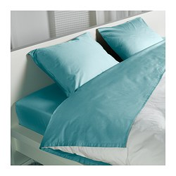 GÄSPA sheet set, turquoise Thread count: 310 /inch² Thread count: 310 /inch²