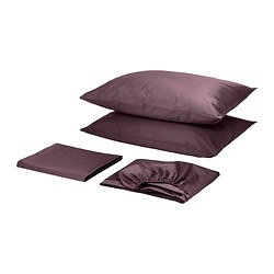 GÄSPA sheet set, dark lilac