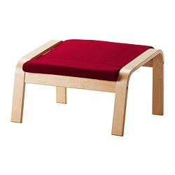 POÄNG footstool cushion, Dansbo medium red Length: 53 cm Width: 60 cm Thickness: 7 cm