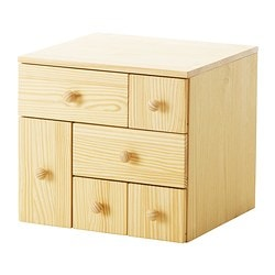 "IKEA PS 2012 add-on chest with 6 drawers, pine Width: 20 1/2 "" Depth: 18 7/8 "" Height: 18 7/8 "" Width: 52 cm Depth: 48 cm Height: 48 cm"