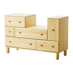IKEA PS 2012 chest of 5 drawers/1 door, pine Width: 130 cm Depth: 48 cm Height: 86 cm