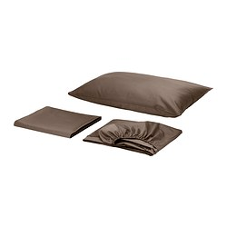 GÄSPA sheet set, brown