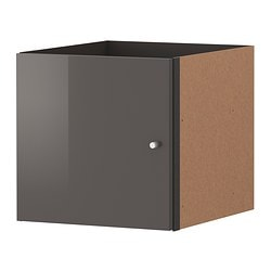 EXPEDIT insert with door, high-gloss grey Width: 33 cm Depth: 37 cm Height: 33 cm