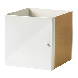 EXPEDIT insert with door, high-gloss white Width: 33 cm Depth: 37 cm Height: 33 cm