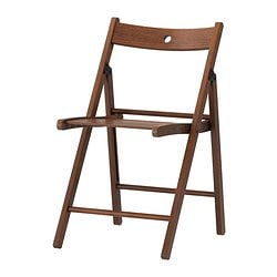 TERJE folding chair, brown Tested for: 110 kg Width: 44 cm Depth: 51 cm