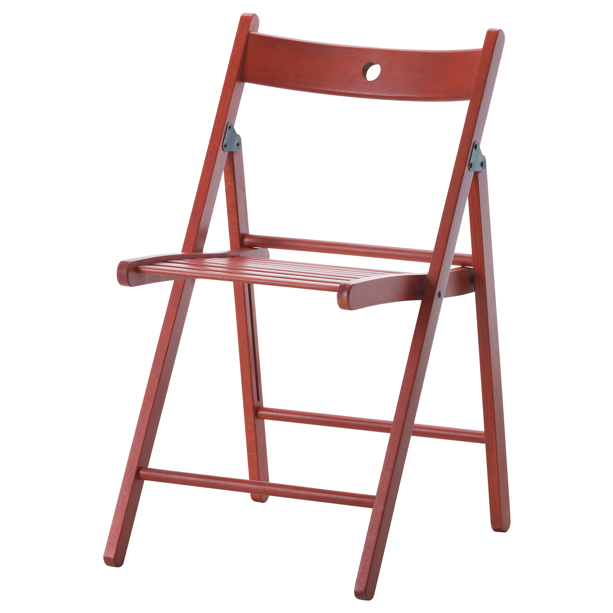 terje folding chair red tested for 220 lb width 17 38