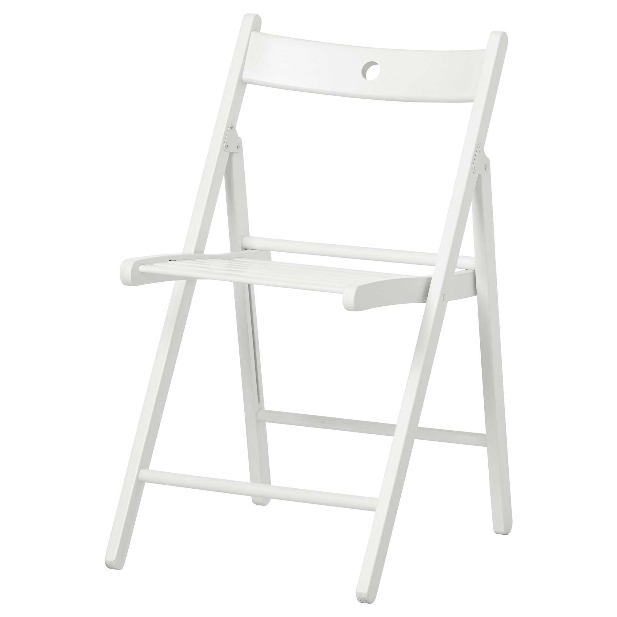 terje folding chair white tested for 220 lb width 17 38