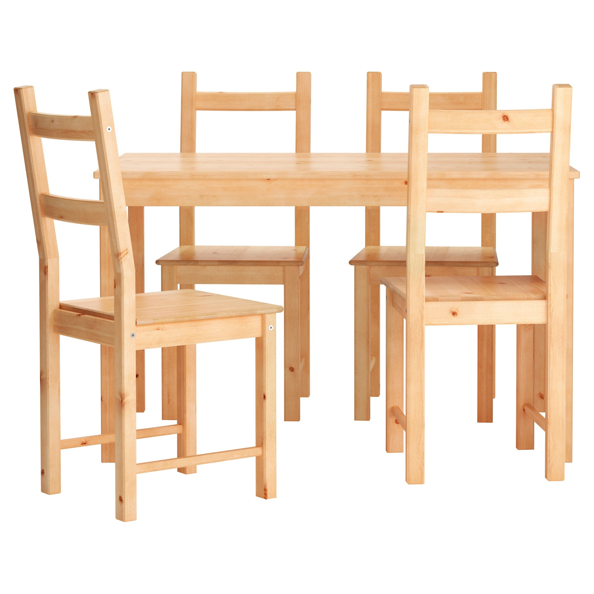ingo ivar table and 4 chairs ikea - Wooden Dining Table With Chairs