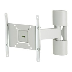 "UPPLEVA wall bracket for TV, tilt/swivel Max. load TV: 20 kg Max. screen size: 32 "" Min. screen size: 19 """