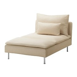 SÖDERHAMN cover for chaise longue, Isefall natural