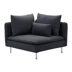 SÖDERHAMN Corner Section, Samsta Dark Gray