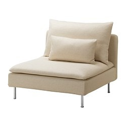 SÖDERHAMN one-seat section, Isefall natural Width: 93 cm Depth: 99 cm Height: 83 cm