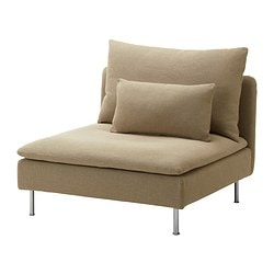 SÖDERHAMN one-seat section, Replösa beige Width: 93 cm Depth: 99 cm Height: 83 cm
