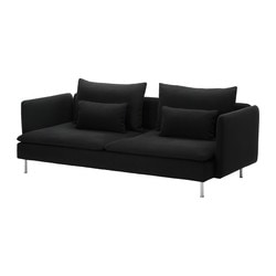SÖDERHAMN cover sofa-bed, Replösa black