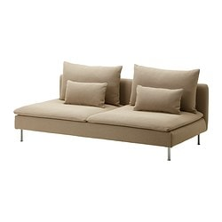 SÖDERHAMN sofa-bed section, Replösa beige Width: 200 cm Depth: 99 cm Height: 83 cm