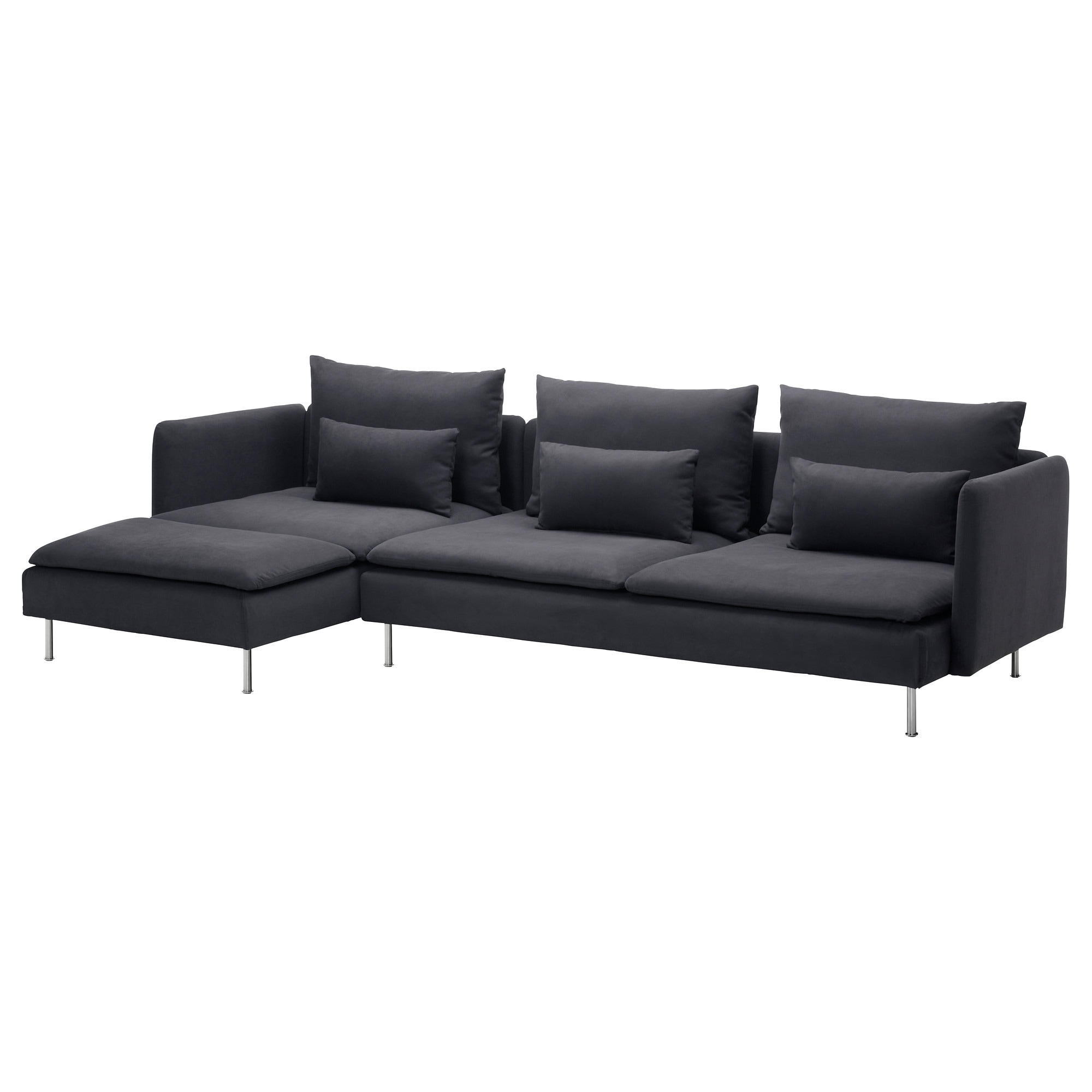 S–DERHAMN Sectional 4 seat Samsta dark gray IKEA