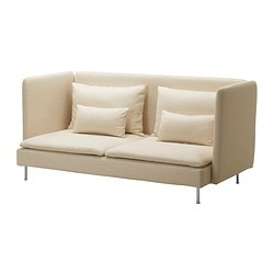 SÖDERHAMN cover three-seat sofa, high back, Isefall natural