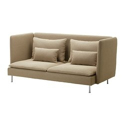 SÖDERHAMN cover three-seat sofa, high back, Replösa beige