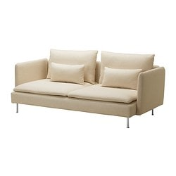 SÖDERHAMN three-seat sofa, Isefall natural Width: 198 cm Depth: 99 cm Height: 83 cm
