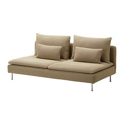 SÖDERHAMN three-seat section, Replösa beige Width: 186 cm Depth: 99 cm Height: 83 cm