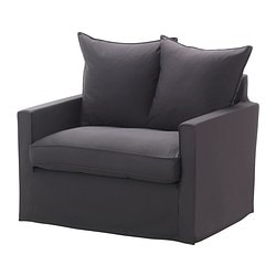 HÄRNÖSAND armchair cover, Olstorp dark grey