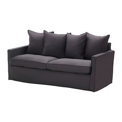 HÄRNÖSAND cover three-seat sofa, Olstorp dark grey