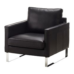 leather faux leather couches chairs ottomans ikea. Black Bedroom Furniture Sets. Home Design Ideas