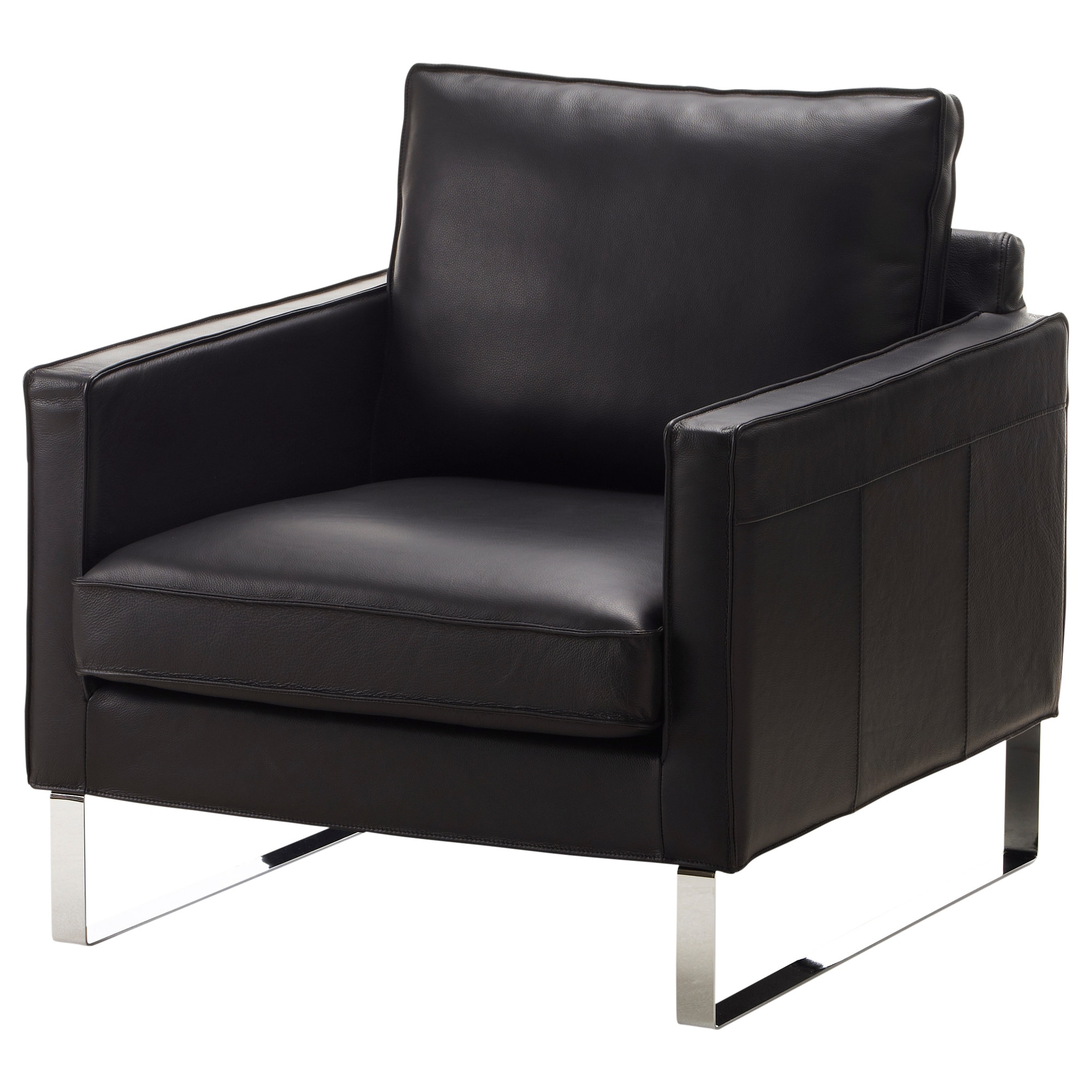 Black leather arm chair - Mellby Armchair Grann Black Width 30 3 4 Depth 33 1