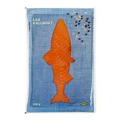 LAX KALLRÖKT smoked salmon, frozen Net weight: 200 g