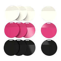 SPONTAN magnet, assorted colours Diameter: 6 cm Package quantity: 4 pack