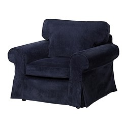EKTORP chair cover, Vellinge dark blue
