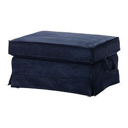 EKTORP footstool cover, Vellinge dark blue