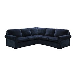 EKTORP corner sofa 2+2 cover, Vellinge dark blue