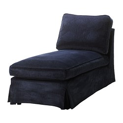 EKTORP cover free-standing chaise longue, Vellinge dark blue