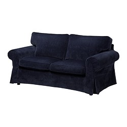 EKTORP loveseat cover, Vellinge dark blue