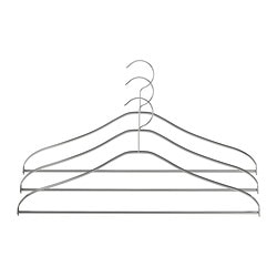 GRUNDTAL hanger, stainless steel Width: 41 cm Package quantity: 3 pieces