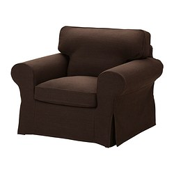 EKTORP armchair cover, Edsken brown