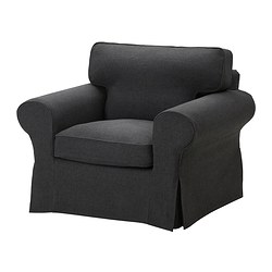 EKTORP armchair cover, Edsken dark grey