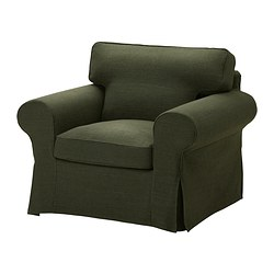 EKTORP armchair cover, Edsken green