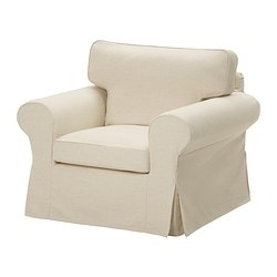 EKTORP armchair cover, Isefall natural