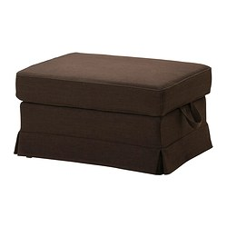 EKTORP footstool cover, Edsken brown
